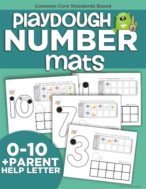 Playdough Mats Numbers by Numbers Easy Tools To Teach 0 10 Kindergartenworks