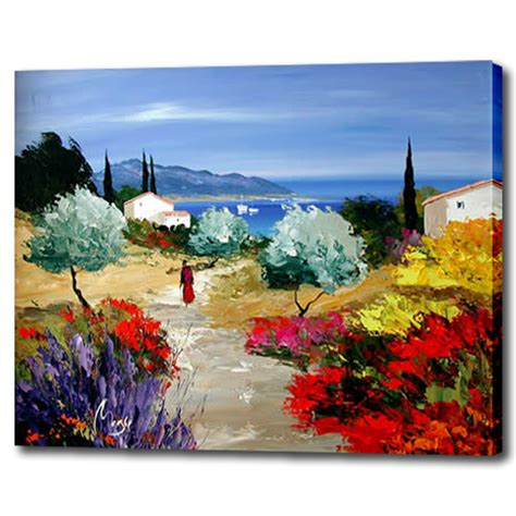 libro painting the modern garden country road path landscape oil painting modern natural scenery art paintings for living room