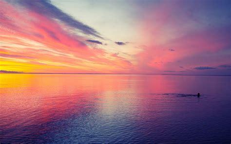 sea horizon sky clouds nature wallpapers hd desktop
