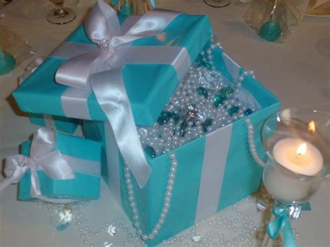 tiffany blue box centerpieces sweet 16 pinterest