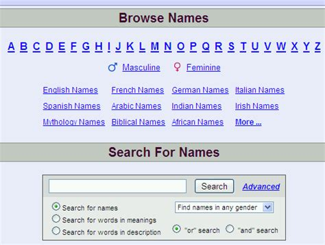Get Your Name Search K What S In A Name