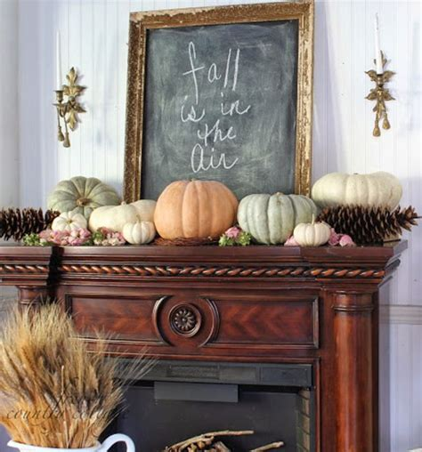 Fireplace Mantels Decor by Fireplace Mantel Decor Ideas For Decorating For Thanksgiving