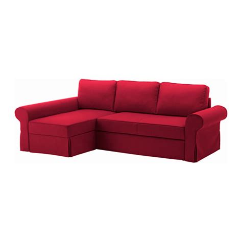 red sofa bed backabro sofa bed with chaise longue nordvalla red ikea