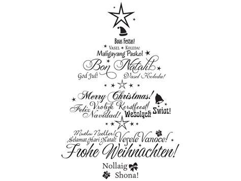 wandtattoo mehrsprachiger weihnachtsbaum klebeheld de