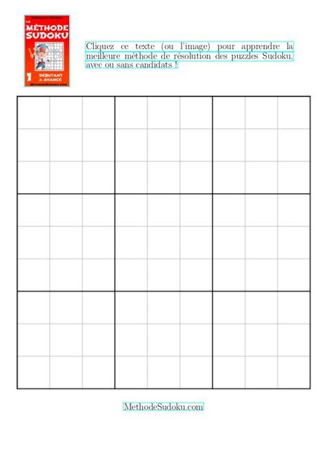 Grille Sudoku by Gratuit Grille De Sudoku Vide 224 Imprimer Une Grille Sur