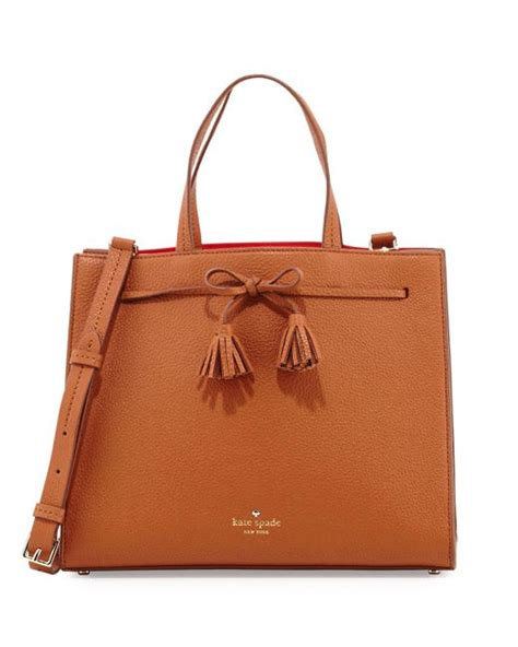 Kate Spade Lydia Leather Brown kate spade new york isobel leather satchel bag in brown lyst