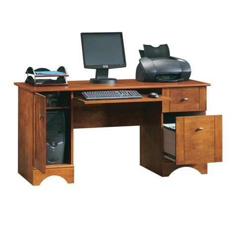 pc desk shop sauder country computer desk at lowes com