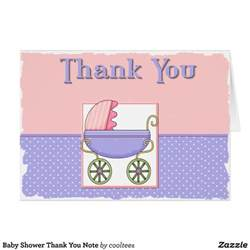 baby shower note cards baby shower thank you note card zazzle