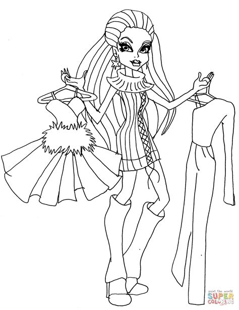 monster high coloring pages baby abbey bominable mh abbey bominable coloring page free printable coloring