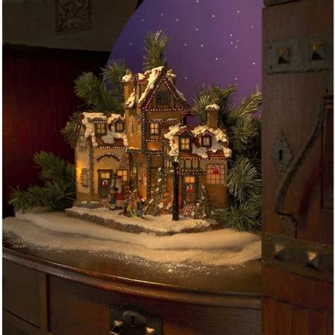 konstsmide fibre optic festive village scene indoor