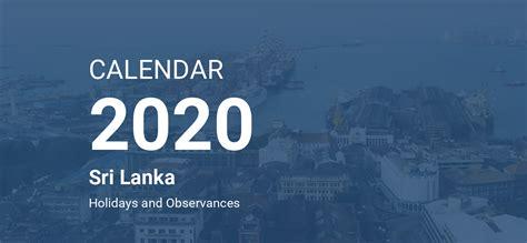 year  calendar sri lanka