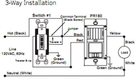 wiring diagram three way switches pilot light leviton