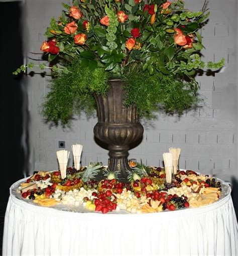 fruit and cheese table catering and food reception
