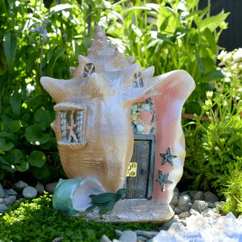 mermaid house conch condo mermaid house fairy cottage home garden craft d 233 cor ebay
