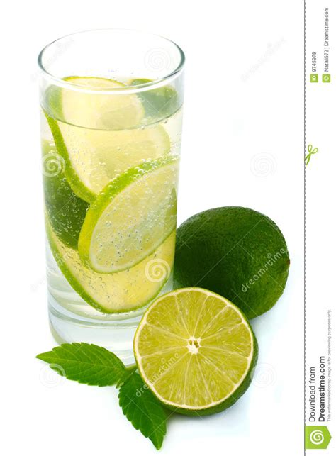 lime green water water with green lime royalty free stock photos image
