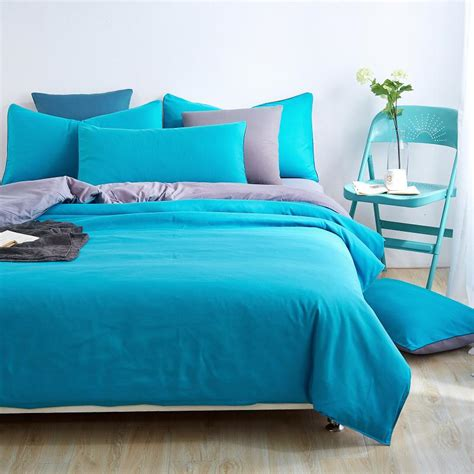 solid blue comforter home textiles blue grey solid color bedding sets bedspread