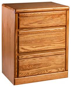 bullnose oak 3 drawer nightstand transitional