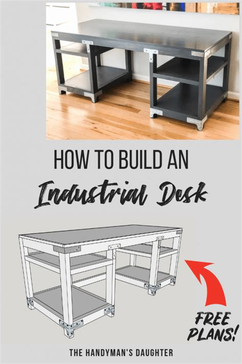 diy computer desk designs diy industrial computer desk plans and tutorial the handyman s