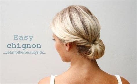 easy chignon   style  chignon beauty  cut
