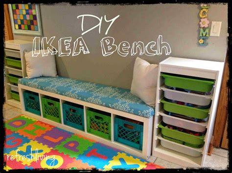 ikea bench ideas diy storage bench with ikea shelf storage room concrete