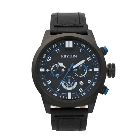 Jam Tangan Pria Ripcurl Colorado Leather Black Blue jual rhythm si1602l 04 leather jam tangan pria black blue harga kualitas terjamin