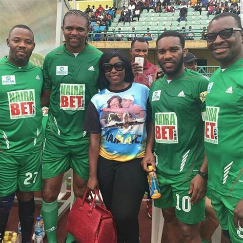 okocha nwankwo kanu alibaba et al at promotional match for ay s quot trip to jamaica