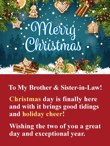 perfect match merry christmas card  sister brother  law birthday greeting cards