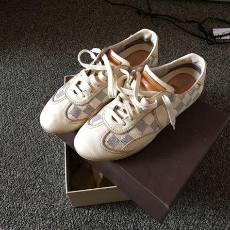 Sepatu Louis Vuitton Original 49 louis vuitton shoes authentic louis vuitton white damier azur shoes from ke s closet