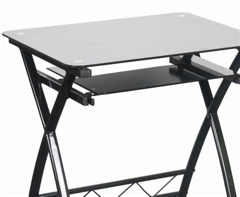 computer desk black glass hawthorn black glass computer desk
