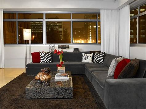 living room modern home with gray living room also with modern living space photos hgtv
