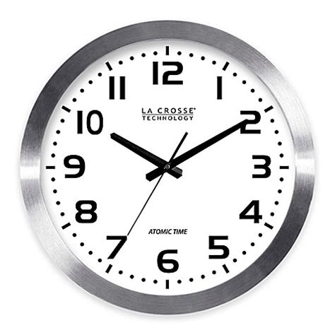 atomic bathroom clock buy la crosse 16 inch atomic metal wall clock from bed