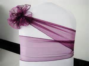 Wedding Chair Cover Designs Purple Chair Cover Sash Chair Organza Sash Chair