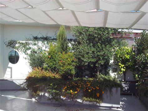 terrazzo verde arredi e sistemazioni a verde terrazzo con vasi in ferro a