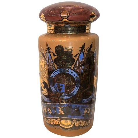 glass apothecary jars wonderful vintage pharmacy blown glass apothecary jar painted at 1stdibs