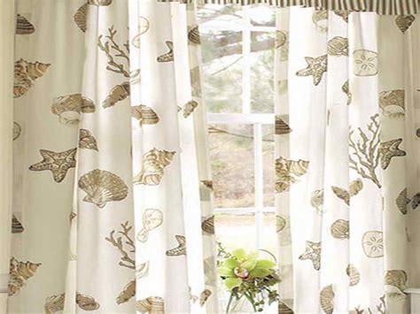 Door amp windows beach themed window curtains with shell beach themed window curtains tier