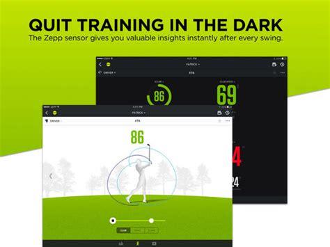 ipad golf swing analyzer zepp golf swing analyzer on the app store