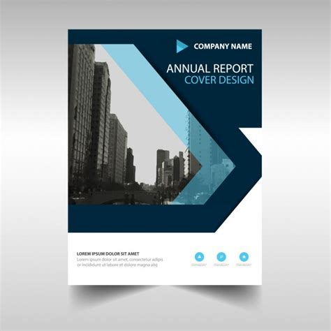 Annual Report Cover Template Blue Creative Annual Report Book Cover Template