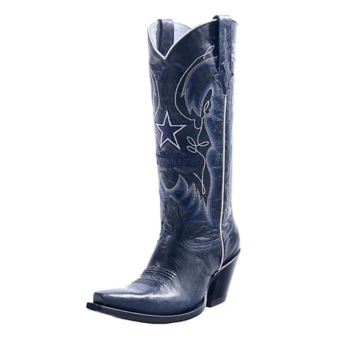 dallas cowboys lucchese womens navy calf fashion boot