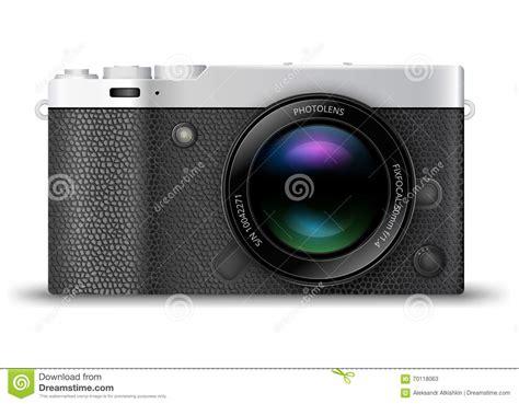 mirrorless digital mirrorless compact stock vector image 70118063