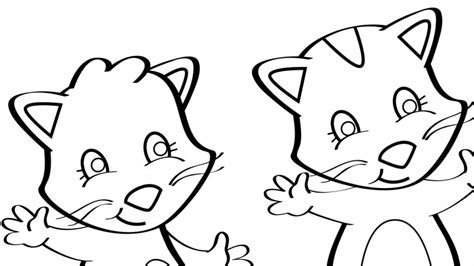 three little kittens coloring page three little kittens coloring page mother goose club