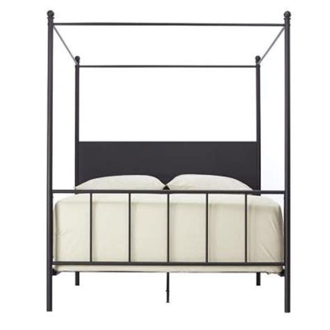 Black King Canopy Bed Home Decorators Collection Cove Black King Size Canopy Bed 1975605210 The Home Depot
