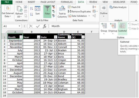 tutorial excel subtotal applying styles to subtotal rows in microsoft excel 2010