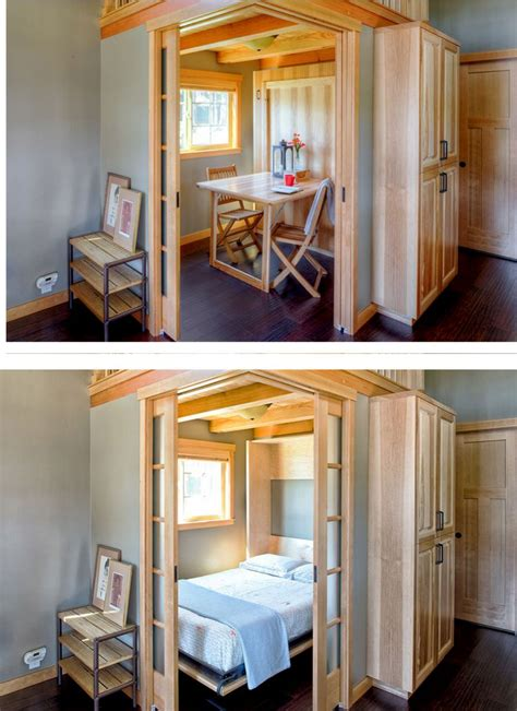 wildwood tiny house swoon murphy bed fold up table in