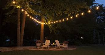 Hanging Lights For Patio Hanging Patio String Lights A Pattern Of Perfection Yard Envy
