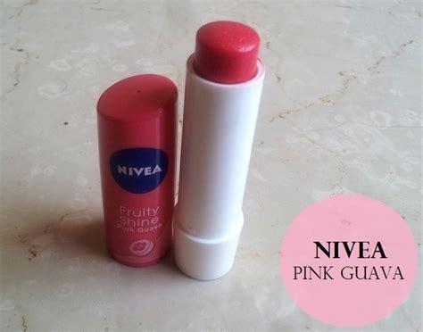Lipgloss Nivea nivea lip care fruity shine pink guava lip balm review