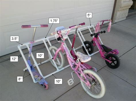 diy bike rack pvc diy pvc bike rack my gems of parenting
