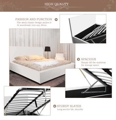 White Gas Shelf by White Gas Lift Storage Bed King Sales