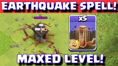 earthquake spell clash of clans new earthquake dark spell coc update