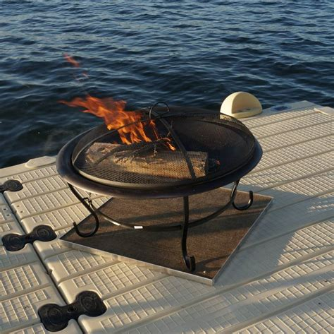 pit pads protect your deck with fireproof deck