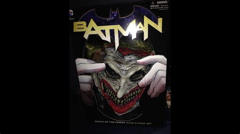 Batman Death Of The Family Book Amp Mask Set Unboxing